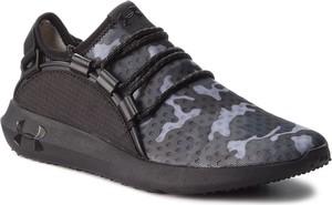 Brązowe buty sportowe Under Armour z płaską podeszwą sznurowane