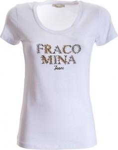 T-shirt Fracomina z bawełny z krótkim rękawem