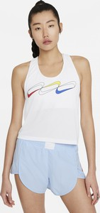 Bluzka Nike z okrągłym dekoltem w sportowym stylu na ramiączkach