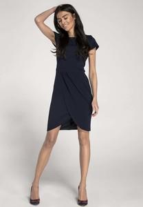 Granatowa sukienka Nommo dopasowana
