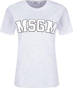 T-shirt MSGM z bawełny z okrągłym dekoltem z krótkim rękawem
