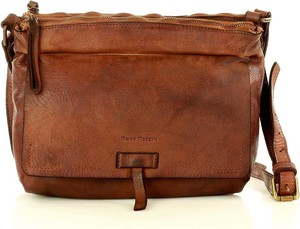 Brązowa torebka Marco Mazzini Handmade ze skóry na ramię średnia