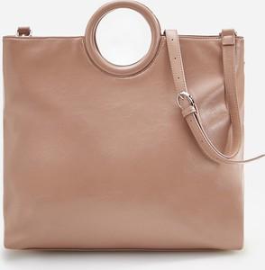 Brązowa torebka Reserved do ręki duża w stylu casual