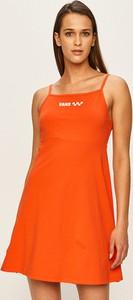Pomarańczowa sukienka Vans mini z dekoltem w łódkę