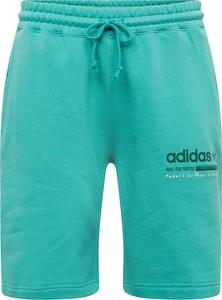 Turkusowe spodenki Adidas Originals z bawełny
