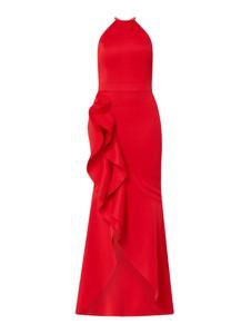 Czerwona sukienka Lipsy z dekoltem halter maxi