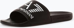 Czarne buty letnie męskie EA7 Emporio Armani w sportowym stylu