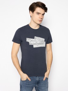 Granatowy t-shirt Pepe Jeans