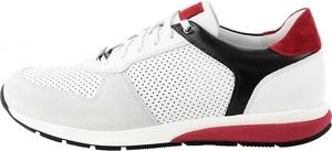 Buty sportowe Prima Moda w sportowym stylu ze skóry sznurowane