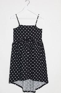 Czarna sukienka Asos mini na ramiączkach