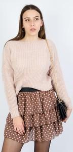 Różowy sweter Olika w stylu casual