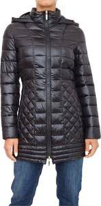 Czarna kurtka Trussardi długa w stylu casual