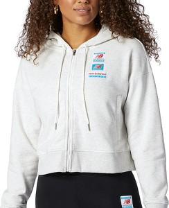 Bluza New Balance w sportowym stylu krótka z tkaniny