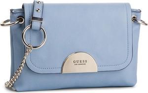 Niebieska torebka Guess ze skóry mała