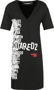 Sukienka Dsquared2 w stylu casual z krótkim rękawem