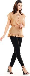 Bluzka Awama ze sznurowanym dekoltem