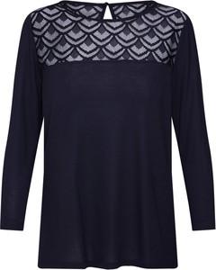 Niebieska bluzka Only z długim rękawem z okrągłym dekoltem z dżerseju