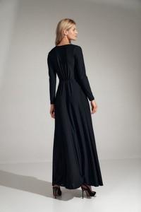 Sukienka Figl z dekoltem w kształcie litery v z długim rękawem maxi