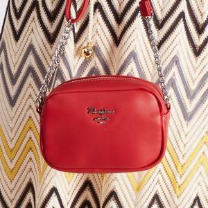 Czerwona torebka David Jones mała