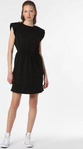 Czarna sukienka Only w stylu casual z okrągłym dekoltem ołówkowa
