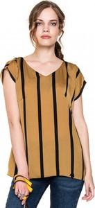 Pomarańczowa bluzka POTIS & VERSO z tkaniny