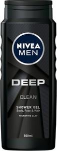Nivea Men, Deep Clean, żel pod prysznic, 500 ml