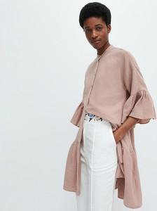 Brązowa sukienka Reserved mini z tkaniny