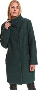 Zielony płaszcz Top Secret z wełny w stylu casual