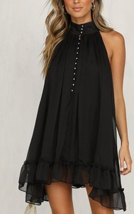 Czarna sukienka Cikelly bez rękawów mini