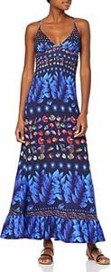 Sukienka amazon.de w stylu casual maxi z dekoltem w kształcie litery v