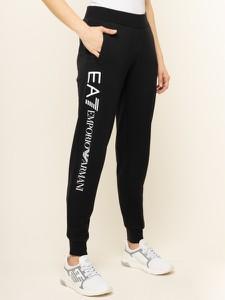 Czarne spodnie sportowe Emporio Armani z dresówki