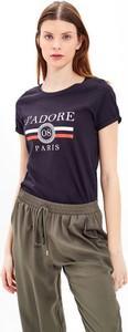 T-shirt Gate z bawełny z okrągłym dekoltem