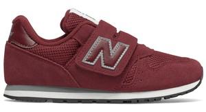 Fioletowe buty sportowe New Balance na rzepy z zamszu