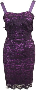 Fioletowa sukienka Dolce & Gabbana mini na ramiączkach