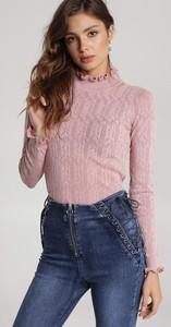Różowy sweter Renee w stylu casual