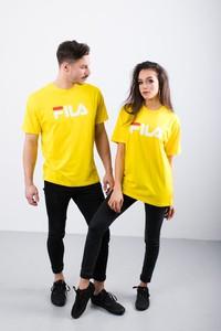 Żółty t-shirt Fila z krótkim rękawem