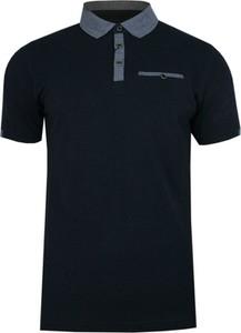Czarny t-shirt Ranir z krótkim rękawem