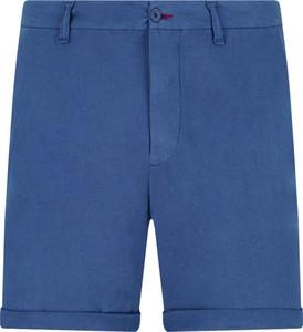 Niebieskie spodenki Guess Jeans z lnu