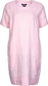 Różowa sukienka Marc O'Polo z lnu