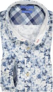 Koszula Colours & Sons z nadrukiem z klasycznym kołnierzykiem z bawełny