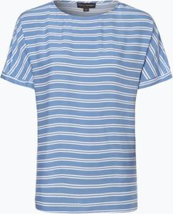 Niebieska bluzka Franco Callegari z krótkim rękawem w stylu casual