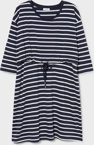 YESSICA C&A Sukienka do karmienia-bawełna bio-w paski, Niebieski, Rozmiar: XS