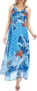Sukienka Smashed Lemon z dekoltem w kształcie litery v maxi z szyfonu