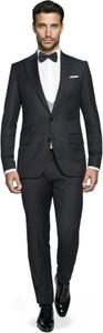 Czarny garnitur Recman z wełny