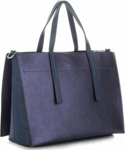 Niebieska torebka VITTORIA GOTTI duża ze skóry