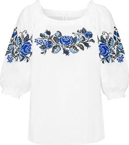 Bluzka JK Collection z bawełny z krótkim rękawem w stylu etno