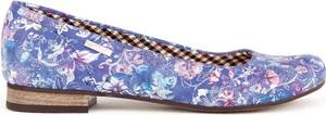 Niebieskie baleriny Zapato ze skóry