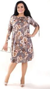 Sukienka Oscar Fashion midi w stylu casual dla puszystych