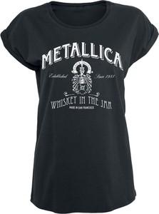 Czarny t-shirt Metallica z bawełny