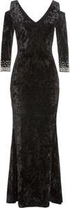 Czarna sukienka bonprix BODYFLIRT boutique w stylu glamour
